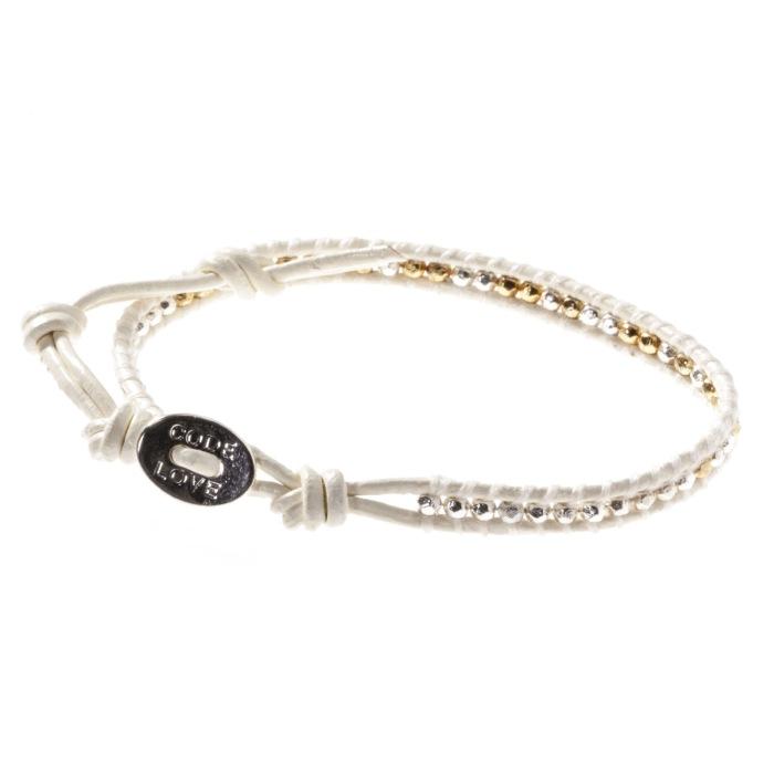 Code Love Dance Leather Wrap Bracelet Hand Made